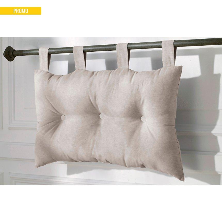 Tête de lit capitonnée lin 65x45