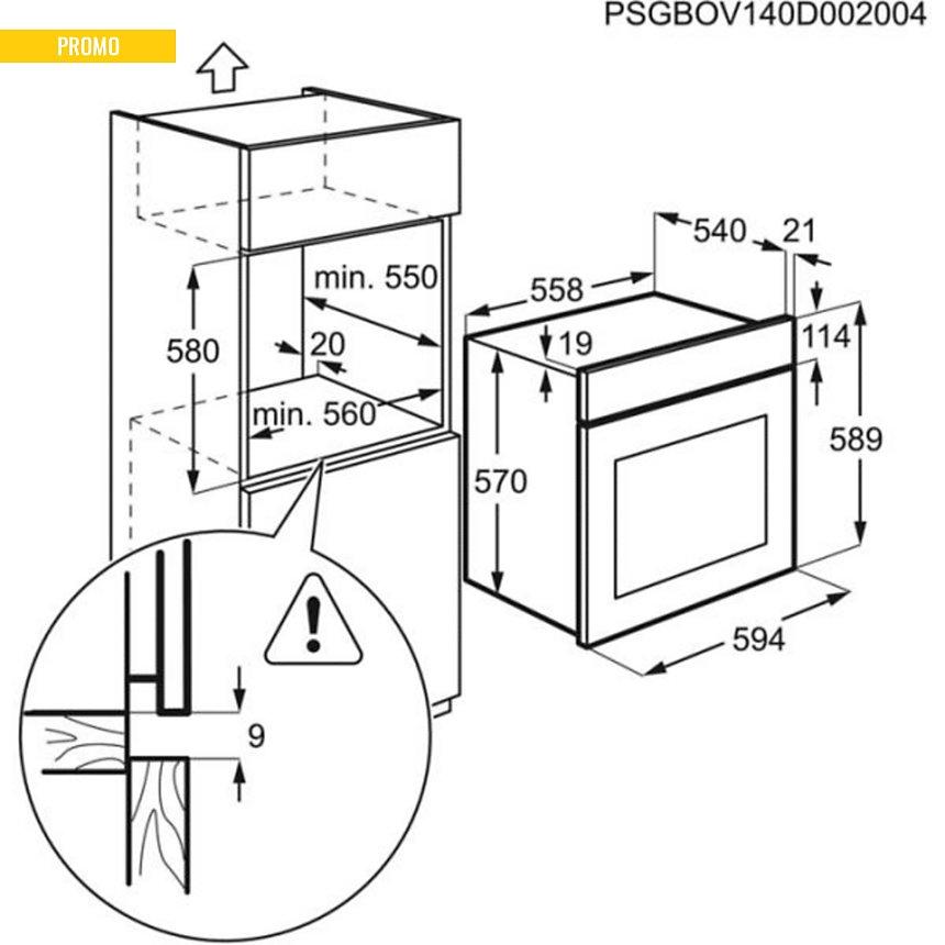 Four pyrolyse ELECTROLUX EZC3400DOX