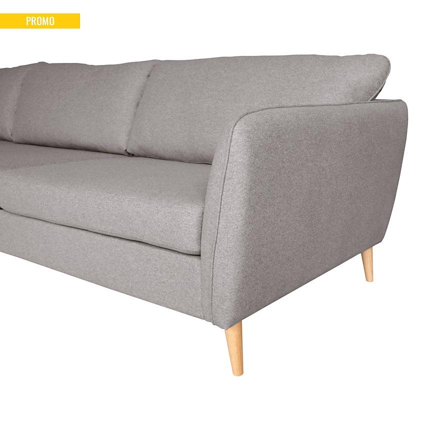 Canapé d'angle XL tissu Finn