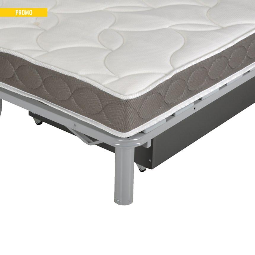 Banquette BZ Guidel avec tiroir intégré,  matelas 15 cm