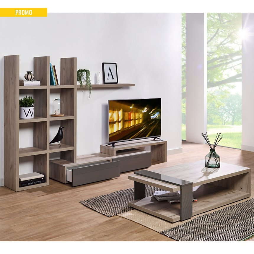 Ensemble TV et Table basse Soline