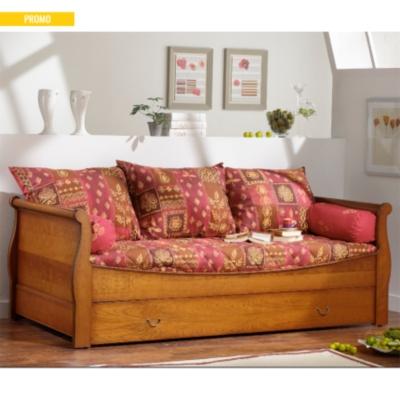 lit gigogne avec dosseret ma lys. Black Bedroom Furniture Sets. Home Design Ideas