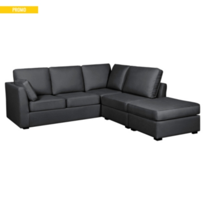canap d 39 angle tissu coton lin marbella. Black Bedroom Furniture Sets. Home Design Ideas