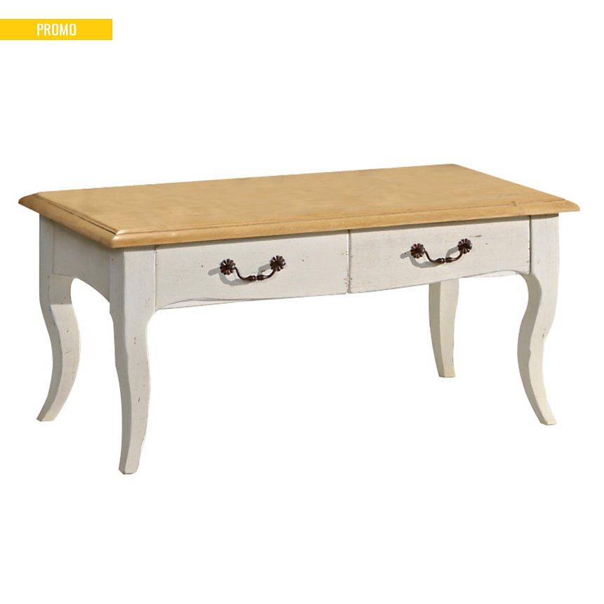 Table basse 2 tiroirs Marguerite de  Provence