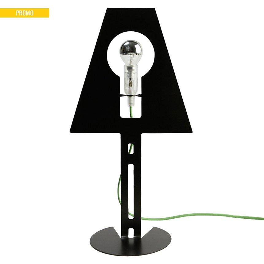Lampe design 2D 2Plis noire