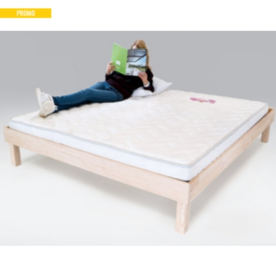 Lit Confort Grande Taille X Cm Bois - Lit grande taille 180x200