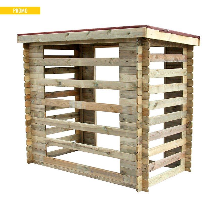 Abri bûches en bois Varsovie 3 stères