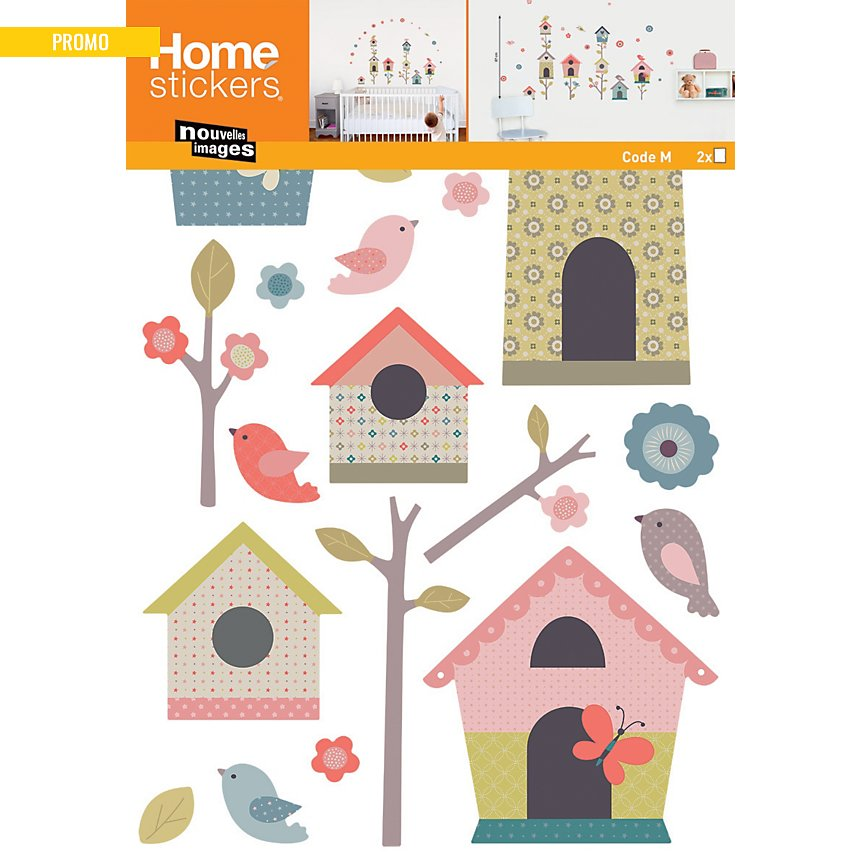 Sticker mural Maisons d'oiseaux