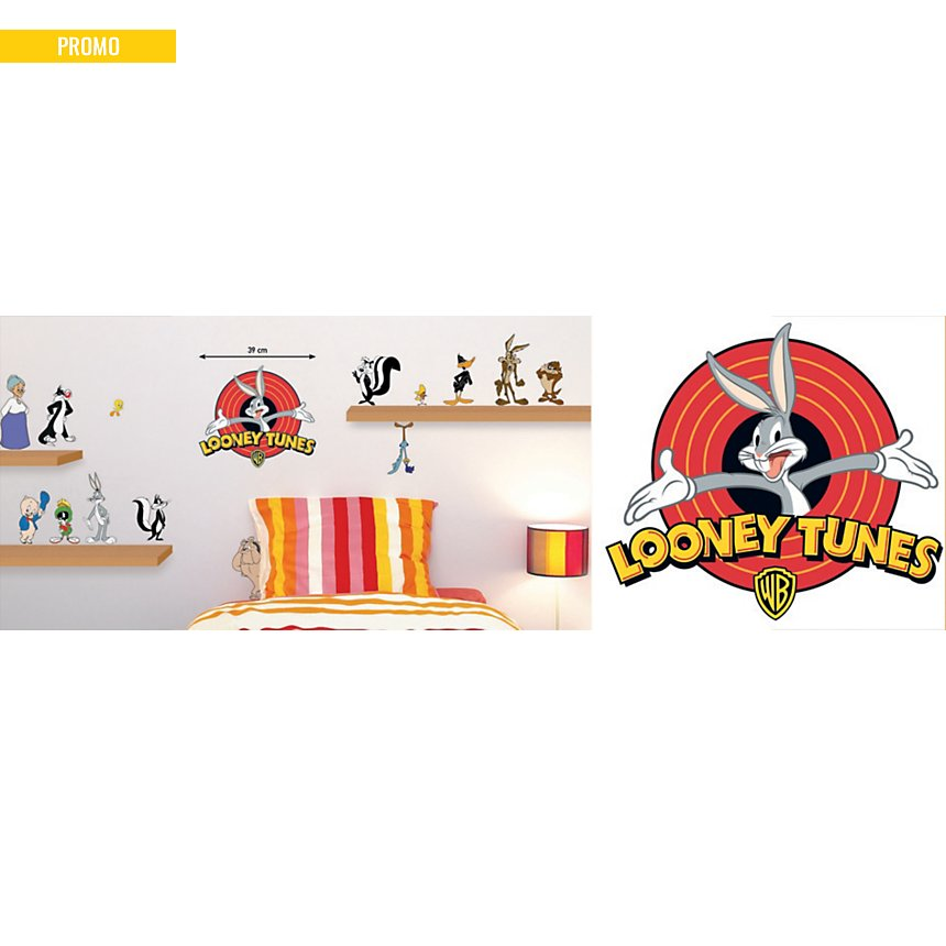 Sticker mural Bugs Bunny et ses amis (WARNER )