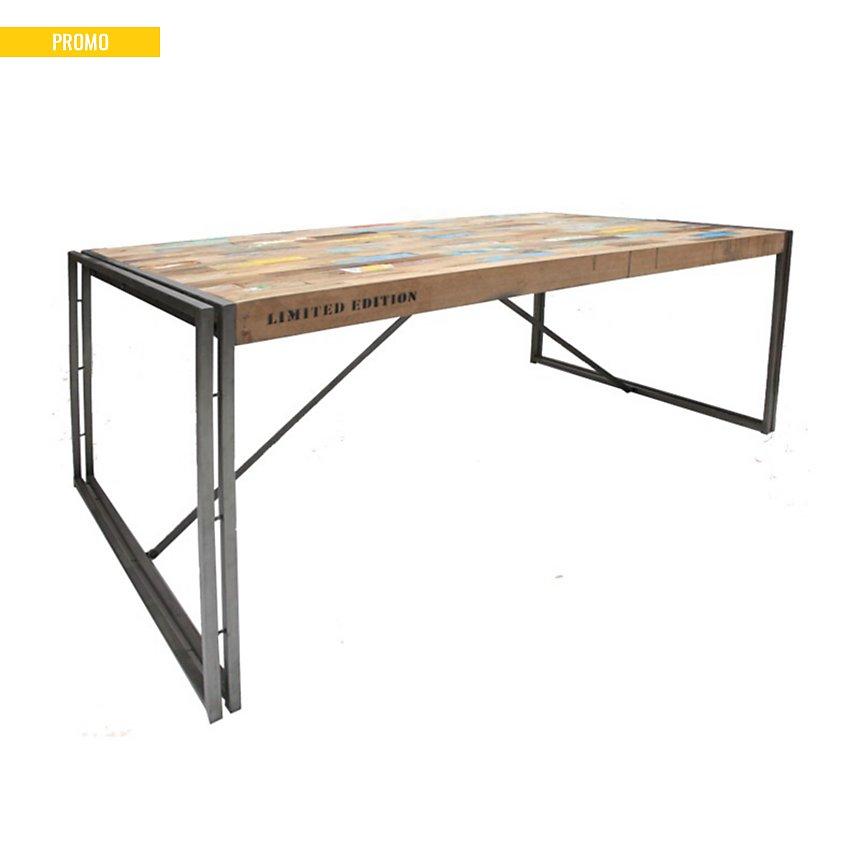 Table de repas en bois Industry