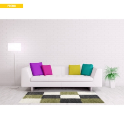 tapis shaggy gris et vert deauville. Black Bedroom Furniture Sets. Home Design Ideas