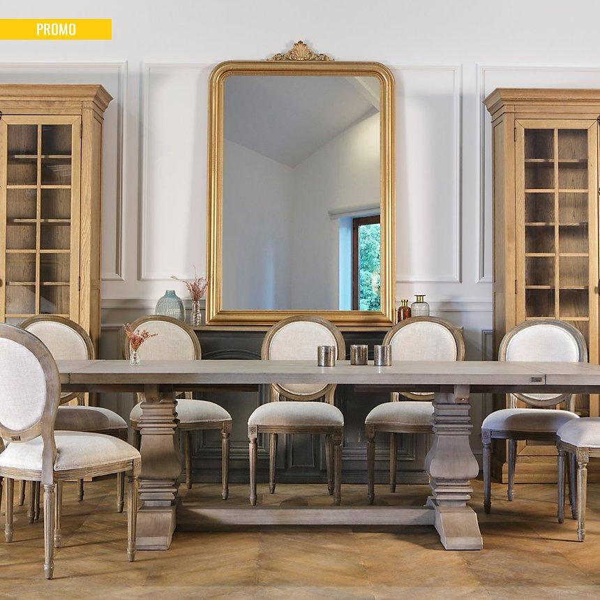 Grand miroir doré Amandine