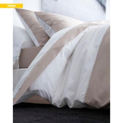 coffret cadeau parure de lit percale memory blanc des vosges. Black Bedroom Furniture Sets. Home Design Ideas