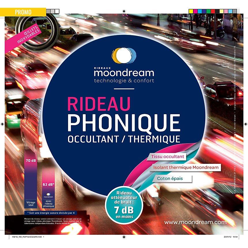 Rideau phonique occultant thermique  MOONDREAM