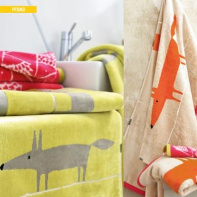 linge de bain mr fox scion living. Black Bedroom Furniture Sets. Home Design Ideas