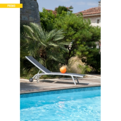 Lot de 2 bains de soleil Prima 5  positions Pro Loisirs