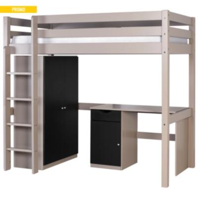 Lit Mezzanine Combiné : lit mezzanine combin smarty 90 x 190 cm ~ Premium-room.com Idées de Décoration