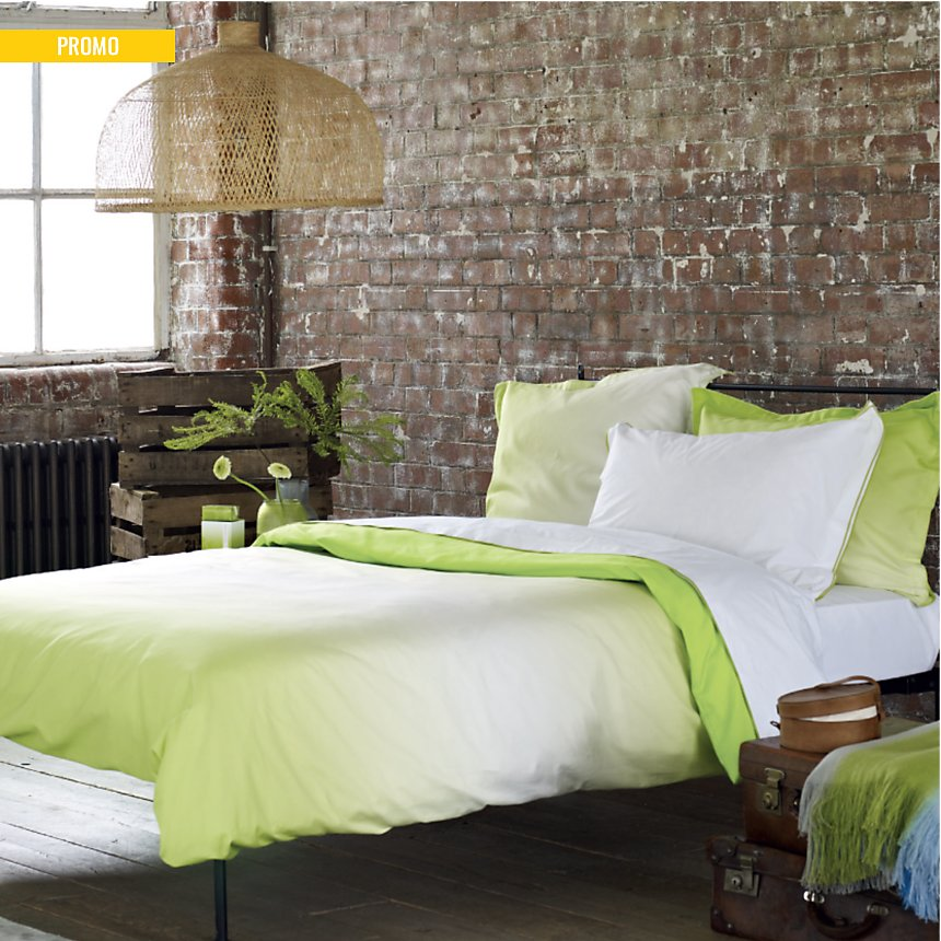 Taie d'oreiller satin Saraille DESIGNERS  GUILD, Lime