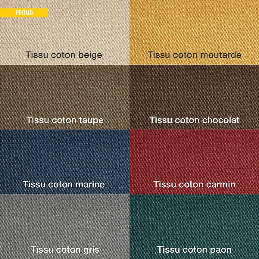 Canapé tissu coton déhoussable Marbella
