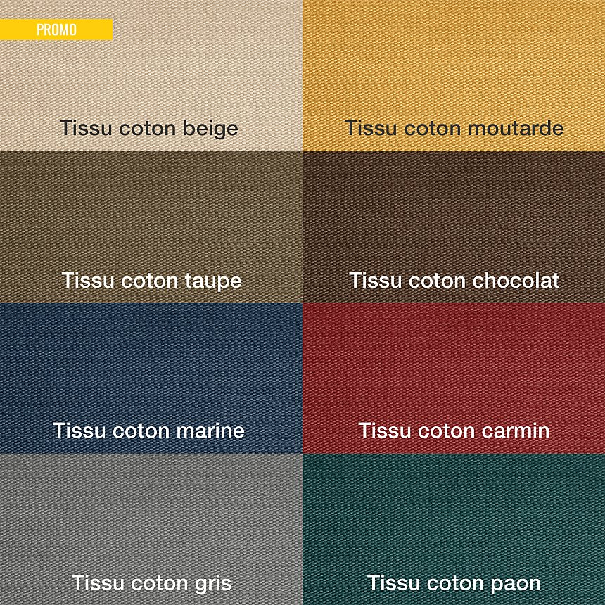 Pouf tissu coton déhoussable Marbella
