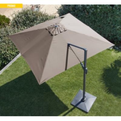 parasol aluminium d port orientable 3 x 3 pro loisirs. Black Bedroom Furniture Sets. Home Design Ideas