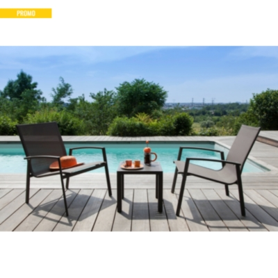 ensemble 2 fauteuils et table basse palma pro loisirs. Black Bedroom Furniture Sets. Home Design Ideas