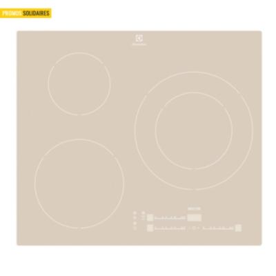 Table induction ELECTROLUX EHM6532IOS  3 foyers coloris métallisé