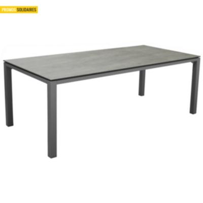 Table Stoneo 210 avec châssis en  aluminium  et plateau HPL Pro Loisirs