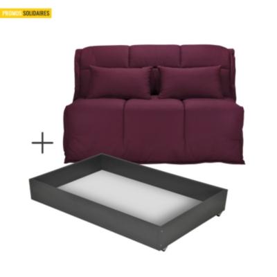 banquette bz gaya avec tiroir matelas latex 15 cm. Black Bedroom Furniture Sets. Home Design Ideas
