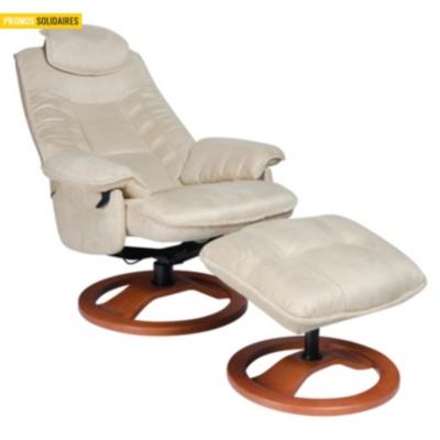 Fauteuil de relaxation + Pouf microfibre Nec Confortissimo