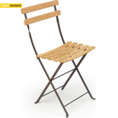 Lot 2 Chaises pliantes FERMOB  Bistro naturel