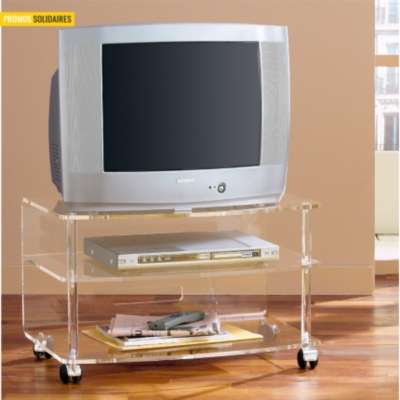 Meuble TV Cristaline Altuglas  incolore, 70 cm