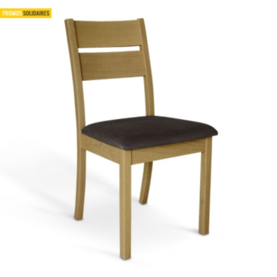 Lot de 2 chaises chêne naturel Fjord