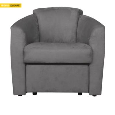 fauteuil microfibre avec pouf int gr fl amenco. Black Bedroom Furniture Sets. Home Design Ideas
