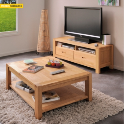 ensemble table basse et meuble tv luminescence. Black Bedroom Furniture Sets. Home Design Ideas