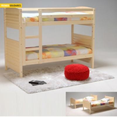 lits superpos s s parables woopi brut peindre. Black Bedroom Furniture Sets. Home Design Ideas