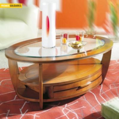 Table basse ovale Majorque