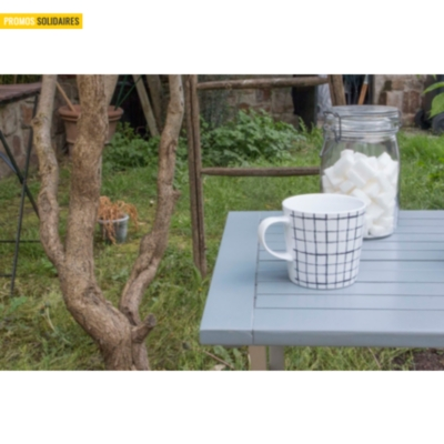 Table de jardin pliante carrée Burano CITY GREEN