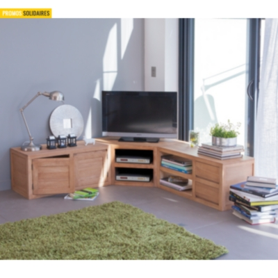 meuble tv d 39 angle norden. Black Bedroom Furniture Sets. Home Design Ideas