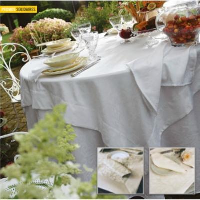 linge de table ombelle blanc des vosges nappes et. Black Bedroom Furniture Sets. Home Design Ideas