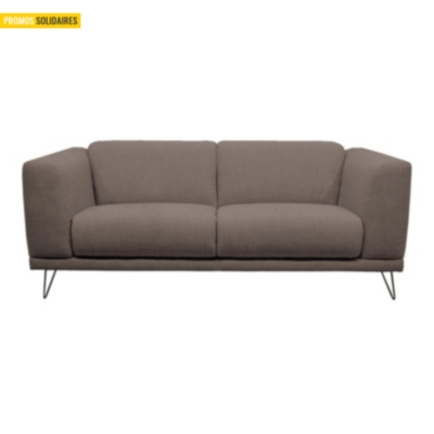 Canapé tissu pieds métal Paiva