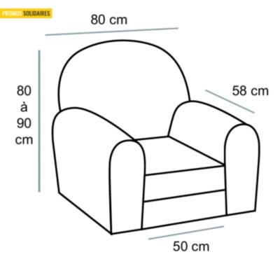 Housse pour fauteuil TUTTI TEMPO taupe