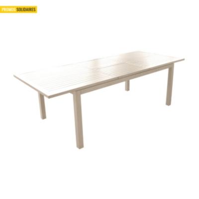 Ensemble table Milano 180/240 avec 2  fauteuils et 4 chaises dont 2 offertes