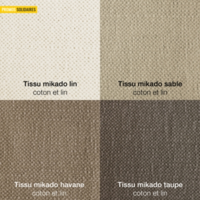 Canapé d'angle Hawaï coton lin  /coton chiné