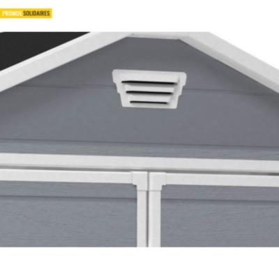 Abri de 4 m avec double porte gris et fen tres chalet - Porte et fenetre pour abri de jardin ...