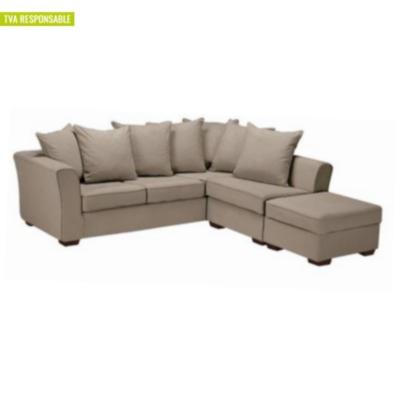 Canapé d'angle Striata bachette coton