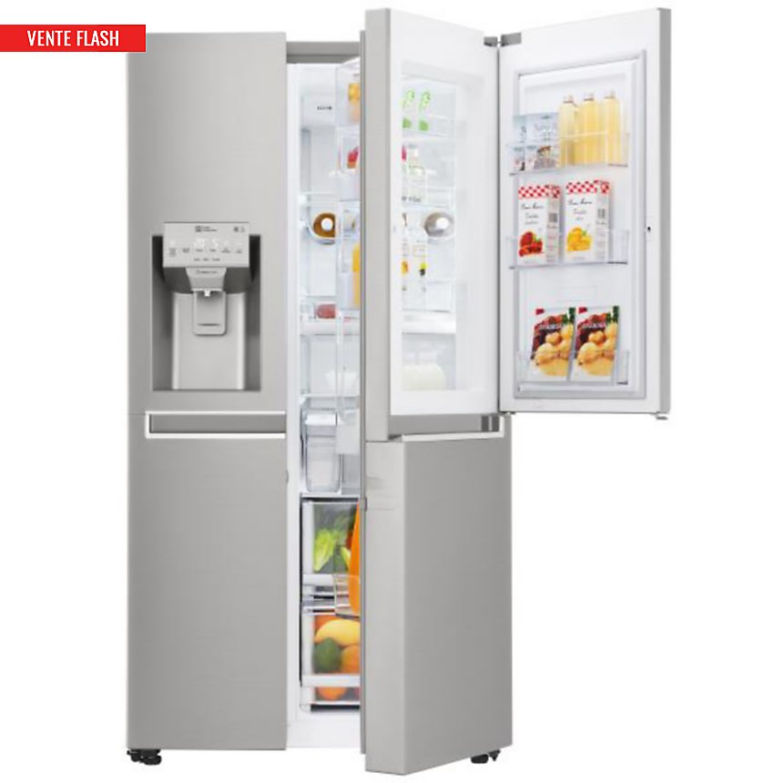 Réfrigérateur américain garanti 5 ans LG GSS6676SC
