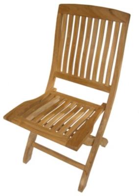 Lot de 2 chaises pliantes Normandie,  teck