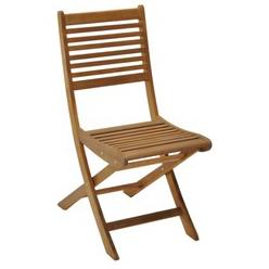 Lot de 2 chaises pliantes look Teck FSC