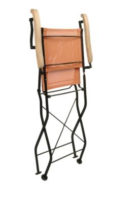 Lot 2 fauteuils pliants Textilène  coloris orange